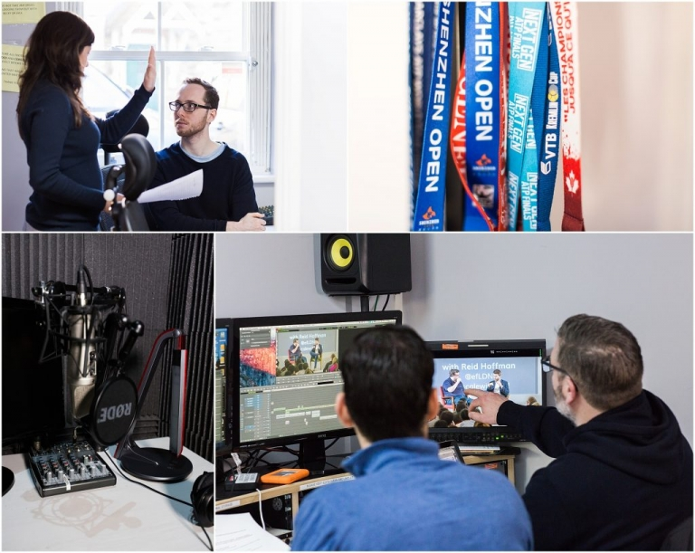 video production team Clean Cut Media at work in London