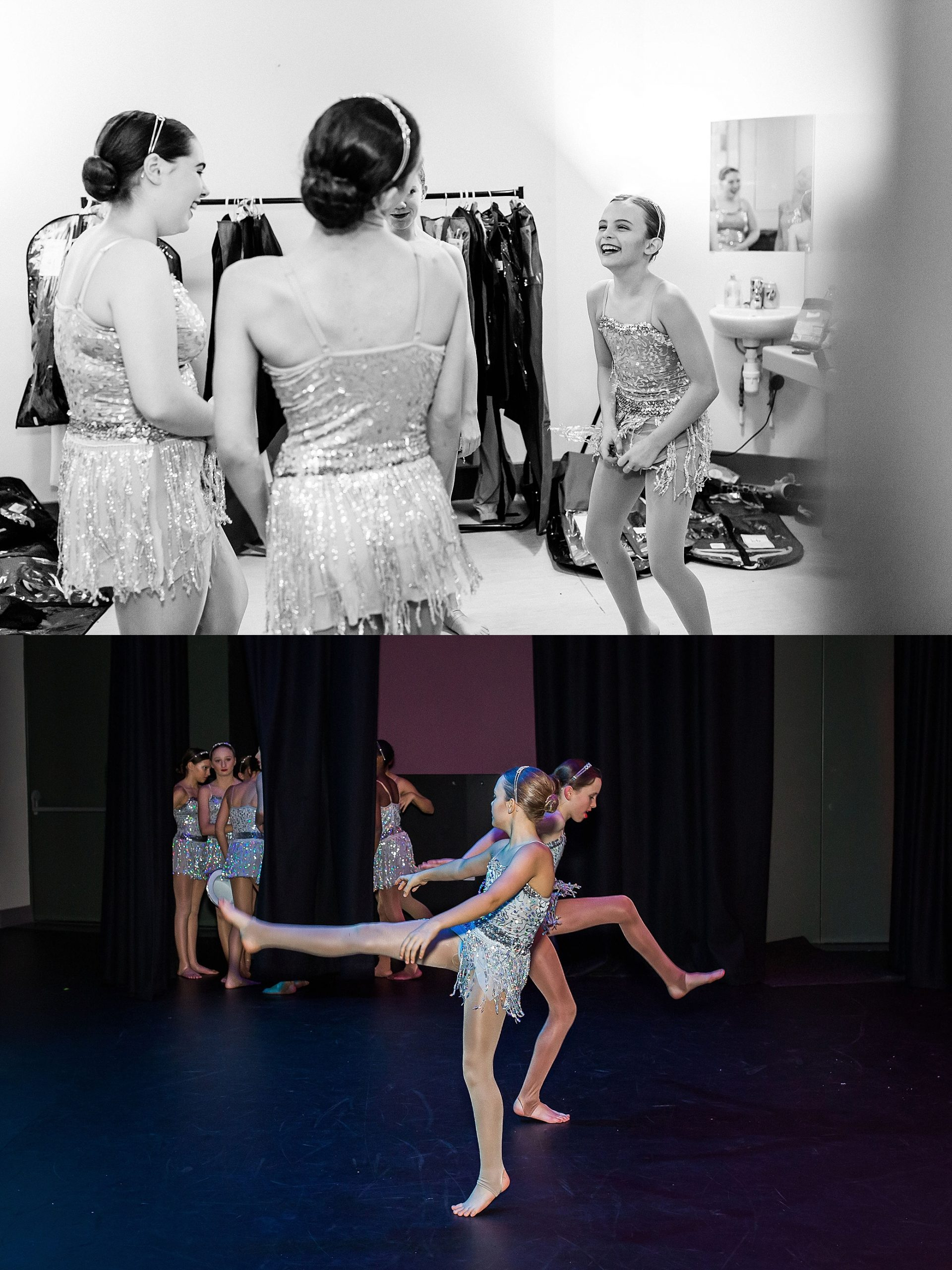 Dancers preparing for their performance at The Exchange theatre in Twickenham