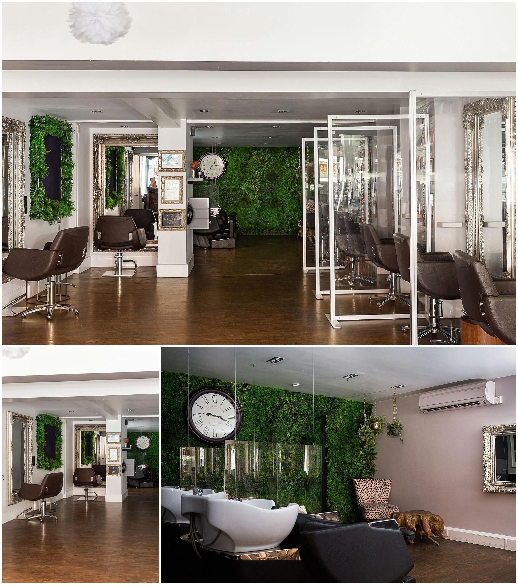 hair salon interior photography