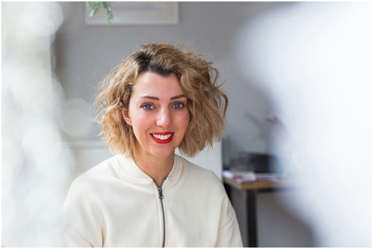 female hair salon owner portrait