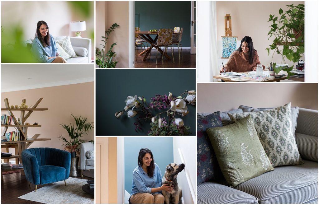 Interior designer at home Esher branding photography