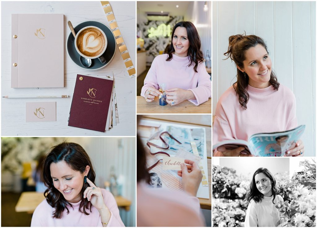Portraits of luxury wedding planner in Parson's Green London