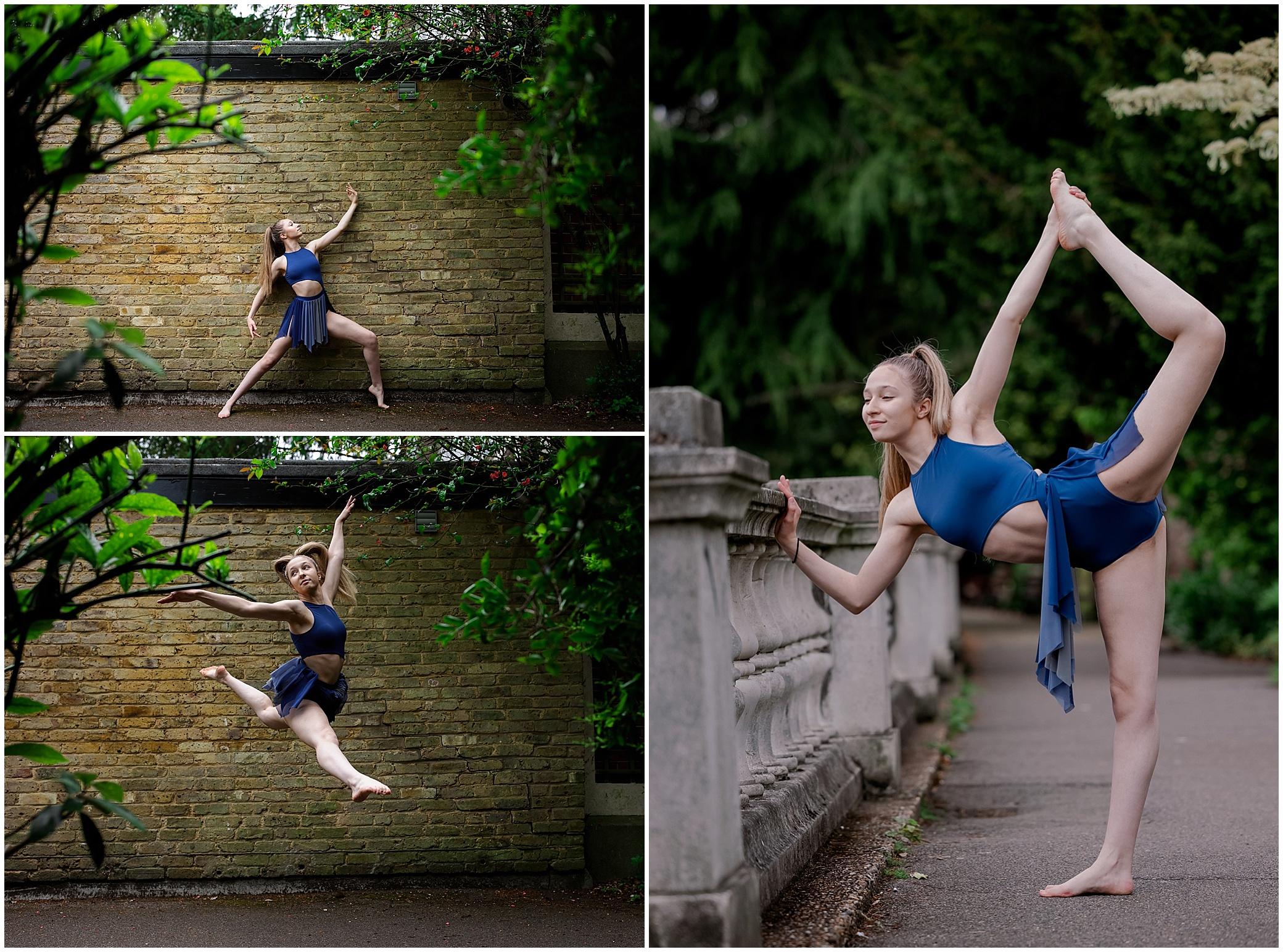dance student posing in London
